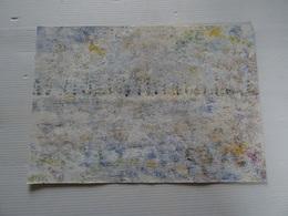 Dessin  Peinture Sur Papier A Découvrir 26.5 X 19 Cm Signé R. CRIPA  Collé Sur Du Carton Aux Angles - Other Collections