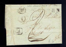 """Lac De Boite """" Y """" (  2 Frappes ) Boisschot """"  ( Booischot ) 21 VII 1837 / Heist Op Den Berg ( Herlant Type 18 ) """" CA """" - Marcophilie"""