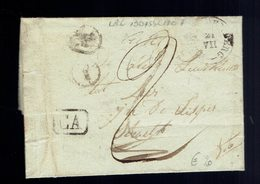 "Lac De Boite "" Y "" (  2 Frappes ) Boisschot ""  ( Booischot ) 21 VII 1837 / Heist Op Den Berg ( Herlant Type 18 ) "" CA "" - Poststempels/ Marcofilie"