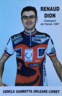 Postcard Renaud Dion - Cercle Gambetta Orleans Loiret - 2001 - Ciclismo