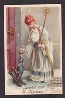 CPA Saint Nicolas Père Noël Santa Claus Nicolo Non Circulé Gaufré Embossed - San Nicolás