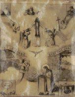 BIBLE FIN 18e PREMIERE DIAPOSITIVE DIAPO PAPIER CALQUE LANTERNE MAGIQUE ET LE VERBE D'EST FAIT CHAIR ABRAHAM Et DAVID - Andachtsbilder