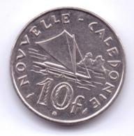 NOUVELLE CALEDONIE 1990: 10 Francs, KM 11 - Nueva Caledonia