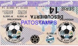 133167 ARGENTINA SPORTS FUTBOL SOCCER TORNEO PREOLIMPICO ATLANTA 96 SERIE 14 ENTRADA TICKET NO POSTAL POSTCARD - Esgrima