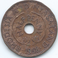 Rhodesia & Nyasaland - 1958 - Elizabeth II - ½ Penny - KM1 - Rhodesia