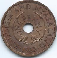 Rhodesia & Nyasaland - 1963 - Elizabeth II - 1 Penny - KM2 - Rhodesia