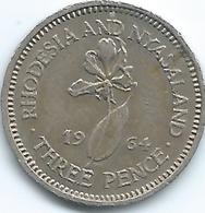 Rhodesia & Nyasaland - 1964 - Elizabeth II - 3 Pence - KM3 - Rhodésie