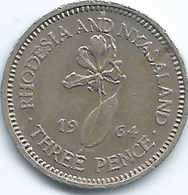 Rhodesia & Nyasaland - 1964 - Elizabeth II - 3 Pence - KM3 - Rhodesia