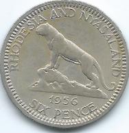 Rhodesia & Nyasaland - 1956 - Elizabeth II - 6 Pence - KM4 - Rhodesia