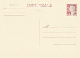 ENTIER - Decaris Sur Chamois Et Sur Blanc Crème - 2 Scans - Standard Postcards & Stamped On Demand (before 1995)