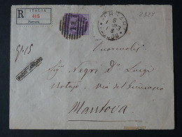 "2327 ITALIA Regno -1879- ""Umberto Effigie"" C. 50 FERRARA>MODENA (descrizione) - 1878-00 Humbert I"