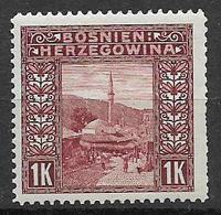 BOSNIA EZERGOVINA  1906 VEDUTE UNIF. 42  MNH XF - Bosnia Erzegovina