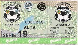 133169 ARGENTINA SPORTS FUTBOL SOCCER TORNEO PREOLIMPICO ATLANTA 96 SERIE 19 P. CUBIERTA ALTA ENTRADA TICKET NO POSTCARD - Escrime