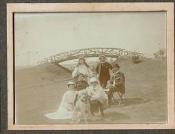 1904 - M. & Mme Armand LESIGNE (DAILLY) Et Leurs Enfants Maurice/Adrienne/Eva + Eugène PELGRIMS - 3 Scans - Personnes Identifiées