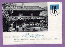 SUISSE  Canton De Vaud GRYON SUR BEX Maison D Enfants La Roche Fleurie - Depliant Publicitaire - - Dépliants Touristiques