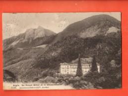 ZAC-33 Aigle Grnd Hòtel Et Le Chamossaire. Charnaux 8144. Cachet Leysin Et Château-Thierry Aisne,timbre Manque,en 1908 - VD Vaud