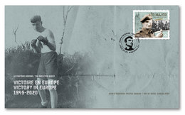 Stamps Canada 2020. - Victory In Europe (V-E) Day: Official First Day Cover – Léo Major - Omslagen Van De Eerste Dagen (FDC)