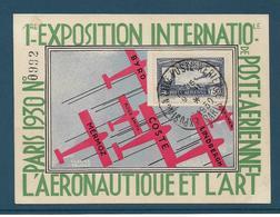 1er EXPOSITION INTERNATIONALE De Poste Aérienne - Timbre PA N°5 Sur Carte - PARIS 1930 - A VOIR !!! - Autres