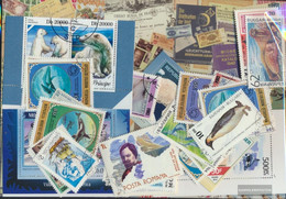 Motives Stamps-50 Different Polartiere Stamps - Antarctic Wildlife