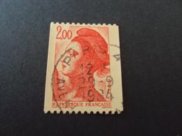 """1982-90 Oblitéré N° 2277  """"LIBERTE  De Gandon   2  """"  Net  0.40  """"paris""""  Roulette - 1982-90 Liberté De Gandon"""