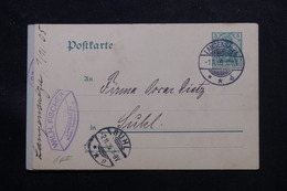 ALLEMAGNE - Entier Postal De Langensalza Pour Suhl En 1905 - L 60215 - Ganzsachen
