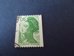 """1982-90 Oblitéré N° 2321  """"LIBERTE  De Gandon    1.70  """"  Net  0.40  Roulette - 1982-90 Liberté (Gandon)"""