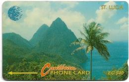 St. Lucia - Pitons - 9CSLC - 1993, 20.000ex, Used - St. Lucia