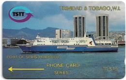 Trinidad & Tobago - TSTT (GPT) - Ship In Port Of Spain - 2CCTA (error Issue) - 1992, Used - Trinité & Tobago