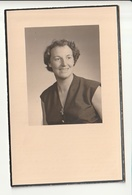 Doodsprentje Renée Louise DE VEL Echtg. Kapitein Kommandant Delvallée Turnhout 1924 - 1958 - Images Religieuses