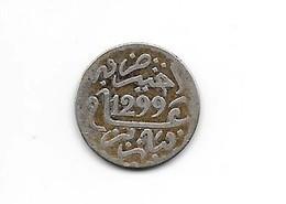 MAROC - 1/2 DIRHAM (1/20 RIAL )  1299 H Paris - Hassan I - Argent - Marruecos