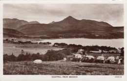 Brodick Isle Of Arran Scotland UK, View Of Goat Fell Mountain C1960s Vintage Real Photo Postcard - Ayrshire