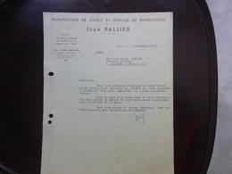 FACTURE - ETS JEAN PALLIER - MANUFACTURE DE JOUETS ET BIMBELOTERIE - MARSEILLE - 04 NOVEMBRE 1950 - 1950 - ...