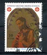 1997 SMOM SET USATO 517 San Giovanni Battista 10s. - Malta (Orden Von)