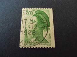 """1982-90 Oblitéré N° 2487   """"LIBERTE  De Gandon    2  """"  Net  0.40   """"   St Pair Sur Mer, Manche """" - 1982-90 Liberté De Gandon"""