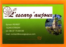 / L'escarg' Aujoux / 71240 Etrigny /  41 Loir Et Cher /  Escargot - Cartes De Visite