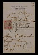AZORES Velas City 1909 Angra Do Heroismo D.CARLOS H AÇORES PD 20A Portugal Postcard Largo João Franco église Matriz 6732 - Angra