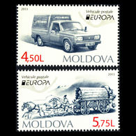 (!)  Timbre EUROPA CEPT De 2013 Thème Véhicules Postaux  MOLDAVIE  Y&T 719/720 Neuf(s) ** Mnh - 2013