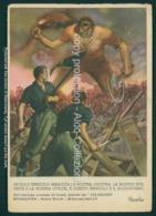 Militari Fascismo PNF Firmata Mussolini Boccasile Timbro Reggimento Lancieri Firenze FG M123 - Italia