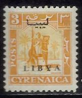 LIBIA LIBYA 1951 REGNO INDIPENDENTE EMISSIONE PER LA CIRENAICA CYRENAICA 3m MLH - Libia