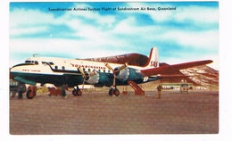 VV-530  GREENLAND : Sondrestrom Air Base With DC-6B Erik Viking ( SE-BDU ) - Aérodromes