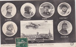Les Aviateurs SIMO HANRIOT RIGAL MARTINET BARRIER RENAUX Dijon Aviation 1910 - Aviatori