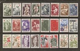 France 1966/78 - Croix-rouge - Petit Lot De 12 Séries Complètes MLH - Kilowaar (max. 999 Zegels)