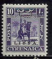 LIBIA LIBYA 1951 REGNO INDIPENDENTE EMISSIONE PER LA CIRENAICA CYRENAICA 10m MLH - Libia