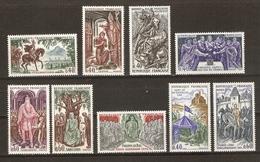 France 1966/8 - Grands Noms De L'histoire - 3 Séries Complètes MLH - Jeanne D'Arc - Clovis - St Louis - Du Guesclin... - France