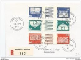 115 - 60 - Enveloppe  Recommandée Avec Timbres Tête-bêche -pont 1970 - Date 1er Jour Des Timbres - Tête-Bêche
