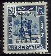 LIBIA LIBYA 1951 REGNO INDIPENDENTE EMISSIONE PER LA CIRENAICA CYRENAICA 20m MLH - Libia