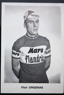 Carte Cyclisme Coureur Cycliste Flandria Flori ONGENAE - Cyclisme