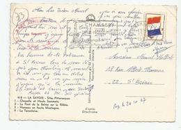 Marcophilie Cachet Base Aérienne Le Bourget Du Lac Avec Franchise Militaire 1967 - 73 Savoie - Marcophilie (Lettres)