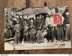 LAOS : Le Phya Pouma, Chef Kha Kouene Et Sa Famille .................... OD-4576 - Laos