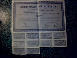 Vieux Papier Action Obligation BON Au Porteur 5oo Fr Or Germinal Ou 2 500 Fr Poincaré - Shareholdings